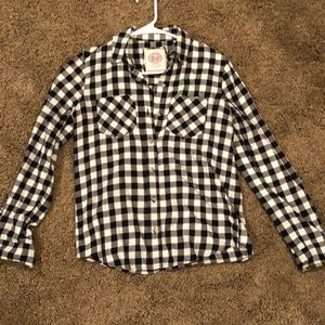 Gingham flannel